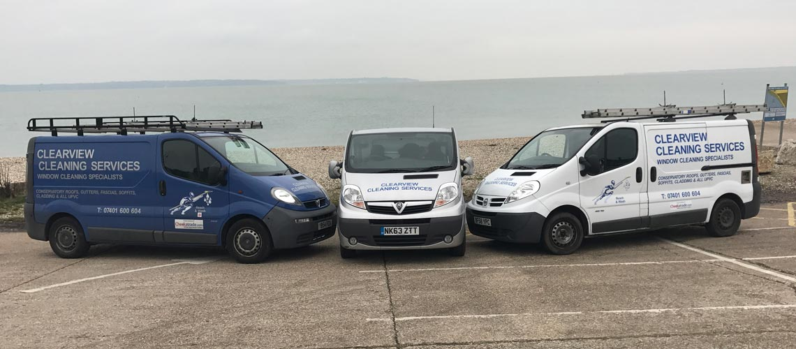 clearview cleaning services vans