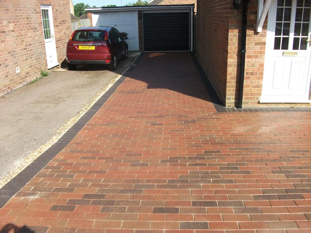 sealed block paving - after