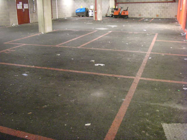 tarmac cleaning - before