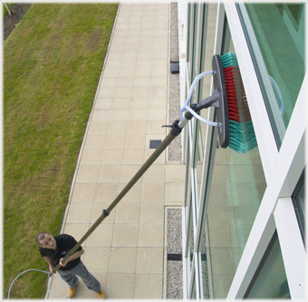 commercial high level window cleaning - Clearview Cleaning Services
